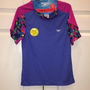 Speedo girl's swim shirt 2 pack